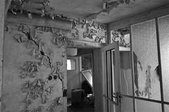 Deutschland Sachsen Kohlmule DSC_0465SW (reinhard_srb) Tags: lost deutschland place fenster fabrik ruine sachsen linoleum mll absperrung werk beton mauer kabel leiter eisen arbeiter ziegel gelnde rohre leitung schlot abbruch schutt treppenstufen abluft bodenbelag kohlmhle teichfolie erzeugung likolit