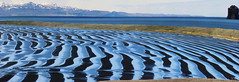 a tidal lagoon with a desire for creativity (lunaryuna) Tags: panorama seascape beach nature beauty season landscape coast iceland spring lowtide lunaryuna wavepattern saudarkrokur naturalabstract tidallagoon wavepatterns northiceland seasonalchange blackvolcanic