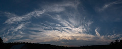 Stalled solstice cold front. 6.20.16 (koperajoe) Tags: sunset sky panorama clouds twilight dusk pano newengland bigsky stratus westernmassachusetts cirrus