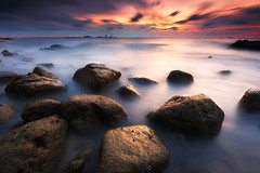 The Rocks (fiz_zero) Tags: nikon nikond750 nikon1635mmf4vr sun sunset sunrise sea sky beach seascape seaside horizon longexposure nature rocks landscape outdoor summer dusk dawn wallpaper background awesome beautiful explore nisifilter nisind1000 nisimalaysia telukbatik perak malaysia asia wow