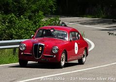 DSC_6569 - Lancia Aurelia B20 II Serie Competizione - 1953 - Mazzotto Paolo - Biondetti (pietroz) Tags: silver photo foto photos flag historic fotos pietro storico zoccola 21 storiche vernasca pietroz