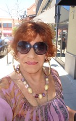 Out-And-About For A Bit Of Shopping (Laurette Victoria) Tags: woman sunglasses mall necklace redhead milwaukee earrings bayshore laurette