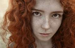 girl with freckles (IrinaDzhul) Tags: red portrait people girl face hair eyes young freckles popular irinadzhul dzhulirina