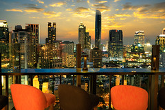 IMG_7174-Edit (Krunja) Tags: life city travel roof party vacation food holiday blur building tourism rooftop glass beautiful modern dinner buildings dark table landscape thailand outdoors happy restaurant evening office twilight couple colorful day view bright time terrace outdoor top bangkok background balcony space empty retro equipment business hour romantic dining elegant relaxation luxury th elegance krungthepmahanakhon