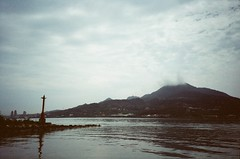 2016.04.24 Tamsui (chunhao93) Tags: taiwan tamsui asia river mountain reflection sky cloud wave water lomo lca light photography film