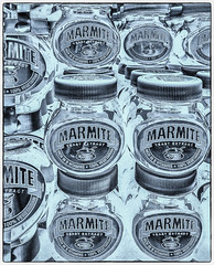 extract (Dale Michelsohn) Tags: food art photoshop monotone jar yeast marmite extract iphone advertise dalemichelsohn