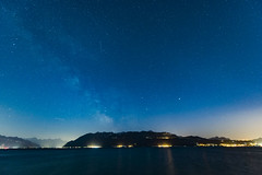Blue hours Milky Way (escapevelocity-ch) Tags: cully vaud suisse switzerland lavaux lausanne milky way voie lacte mars saturne saturn lac lake geneva lman hicham dennaoui escape velocity escapevelocitych toiles stars timelapse wwwescapevelocitych