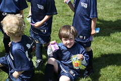 Olsen posting with his snacks (Aggiewelshes) Tags: soccer may peter olsen grouppicture 2013 dragonkite teamdragons