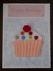 121022 2 Happy Birthday - Knitted Card for Mum ( Claire ) Tags: birthday happy knitting buttons knit craft cupcake card happybirthday kit knitted crafting pompom cardkit kitcard knitola