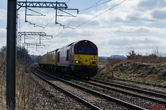 NR Test from Crewe (InterCity Photography) Tags: city test train photography near top no tail rail db class network tnt alistair 67 023 nos 022 intercity inter dbs schenker grimley ews alsager 67022 67023 liveried 05042013