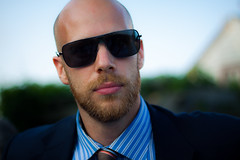 Abe (anthonyoung) Tags: wedding portrait sunglasses beard outside outdoors bald tie suit abe