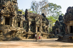 Enjoying Angkor on bicycle (Miha Pavlin) Tags: trip vacation tourism bicycle sport architecture temple se ancient asia cambodia adventure siem reap southeast siemreap wat angor activities indochina