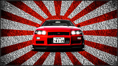 Nissan Skyline GT-R R34 Japan (nbdesignz84) Tags: cars car japan skyline nissan flag nippon jap gtr r34 ps3 playstation3 gt5 photomode granturismo5 gtplanet nbdesignz