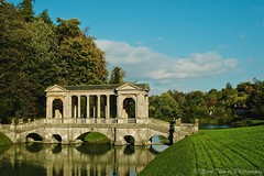 A Passion for Travel (Scottwdw) Tags: travel bridge blue autumn trees vacation england sky people reflection water grass stone clouds landscape nikon bath d70 unitedkingdom international palladian priorpark 1870g scottthomasphotography