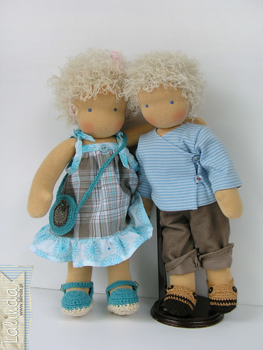 Twins - waldorf rag dolls
