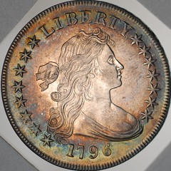 Newman dollar Obv 96 B5 (Numismatic Bibliomania Society) Tags: silver early photos dollar epn