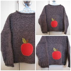 'Heart Felt' red apple upcycled wool jumper (Heart felt) Tags: wool clothing warm recycled knitted heartfelt upcycled