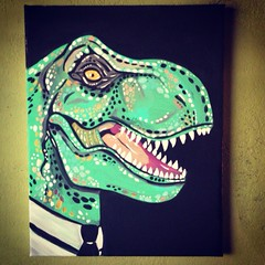 Add me on FB: Stolensoul Jess DINO PROFESSIONAL. 11inx14in. (JessStolensoul) Tags: summer portrait cute green love fashion monster work painting scary colorful paint acrylic dino dinosaur bright sweet sale good reptile originalpainting hey tie professional canvas business suit sell cheap trex acrylicpainting coolbeans dinosaurpainting yolo dinosaurtattoo artlove artlife womeninart dinoart 11inx14in dinopainting femalemade trexpainting
