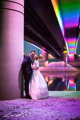 (bumbii) Tags: bridge wedding night river 50mm prime lights groom bride rainbow kiss couple colorful hungary gyr canonef50mmf12lusm canoneos5dmarkii 5dmarkii 5d2 5dmkii 5dmk2 5dmark2