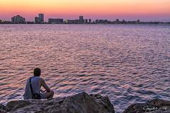 Una tarde de pesca (Gonzalo y Ana Mara) Tags: atardecer verano lamanga pesca cabodepalos gonzalo canonef24105f4lisusm canoneos7d gonzaloyanamara