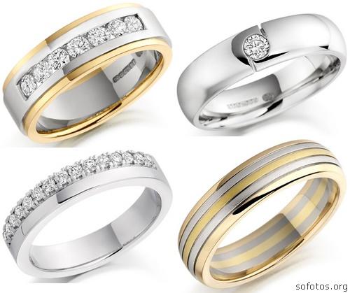 Alianças casamento com diamante