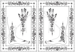 Version 2 of two Mehendi designs using Hungarian embroidery elements (olga_rashida) Tags: berlin art design hands graphic computergenerated kunst arabic bodypainting henna mehendi template mehndi hände hennatattoo fus mehandi henné körperbemalung نقوش naksh hennapattern khidab حنة hennamalerei hennamotive httpwwwhennaundmehrde hennamehndidesign mehndipattern motifpourlatatouageauhenné motifpeinturecorporelle vorlagefürmehendi vorlagefürhennamalerei dessinhenné