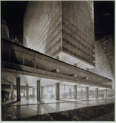 Hugh Ferriss' architectural delineations, 1915-1961 (rosswolfe1) Tags: architecture design futurism metropolis modernity hughferriss