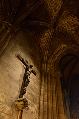 Saviour (ngkokkeong) Tags: travel vacation paris france europe honeymoon catholic christ cross interior notre dame iin ngkokkeong