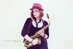 Having some fun with my lover (Odi-et-Amo) Tags: life musician music love girl vintage nikon hungary babe player performer magyar hun saxophone zene lany szep bandsman lny szp d3200 zensz zenesz
