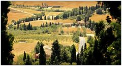 Val d'Orcia, de Pienza, Tuscany (claude lina) Tags: tuscany pienza toscane italie bagnovignoni sanquiricodorcia valdorica mygearandme mygearandmepremium mygearandmebronze mygearandmesilver