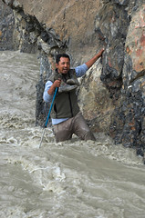 05x08x2006x0251 (andysuttonphotography) Tags: travel people wet water trekking walking outdoors stream boots flood action hiking adventure walker himalaya wading ladakh trekker norbu