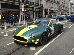 Aston Martin Vantage (mangopulp2008) Tags: show street london martin racing motor regent aston vantage 2013 astonmartinracing