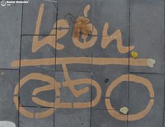 Len (Daniel Matelln Fotografia) Tags: nikon ciudad bicicleta amarillo leon fotografia cemento suelo abajo oa fotografias respeto pintado carril carrilbici d90 otoal nikond90 nikonista leonesp