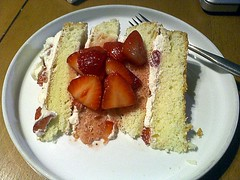 Cake by Ellen (jjldickinson) Tags: food cooking cake dessert baking strawberry whippedcream longbeach wrigley casiogzonerock