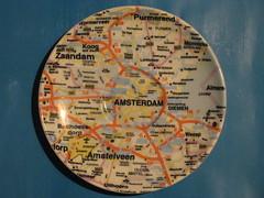 Amsterdam Map Saucer (streamer020nl) Tags: amsterdam map schiphol diemen saucer amstelveen zaandam weesp suurland artanddesign falkplan