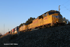 070108_01_UP4466sacto (AgentADQ) Tags: california up train pacific union sacramento freight intermodal sd70m 4466