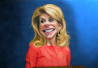 Wendy Davis - Caricature