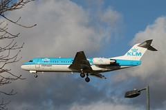 PH-KZT Fokker 70 KLM Cityhopper (R.K.C. Photography) Tags: uk london airport heathrow aircraft klm airliners cityhopper fokker70 phkzt canoneos1100d