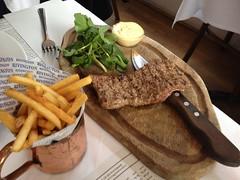 Minute Steak, fries 13.75 (tedesco57) Tags: room grill rivington fries steak minute the