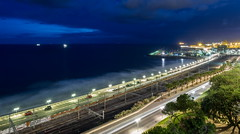 Vista desde el Balcón del Mediterráneo. (Luis Pérez Contreras) Tags: night del photography spain mediterranean balcony olympus el vista catalunya nocturnas balcón tarragona desde mediterráneo omd em5