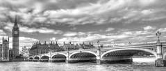 Big Ben and Westminster Bridge b/w (ArtGordon1) Tags: uk england london westminster thames bigben clocktower riverthames westminsterbridge ststephenstower davegordon elizabethtower davidgordon artgordon1 daveartgordon daveagordon davidagordon
