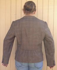 Plaid Blazer to Vest - Before (nosmallfeet) Tags: sewing vests refashions