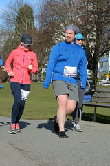 First Half Feb 16 2014 101814 (gherringer) Tags: canada vancouver race outdoors athletics downtown bc exercise britishcolumbia competition running seawall runners englishbay stanleypark colourful westend fit active bibs 211km 131mi vanfirsthalf