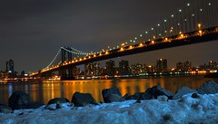 Manhattan Bridge Ice (Joe Marcone (3 Million+ Views)) Tags: ice night 500v20f timeexposure manhattanbridge nikond3200 1500v60f saariysqualitypictures ringexcellence joemarcone