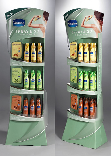 Vaseline Spray & Go Launch Floorstand by Sonoco Display and Packaging