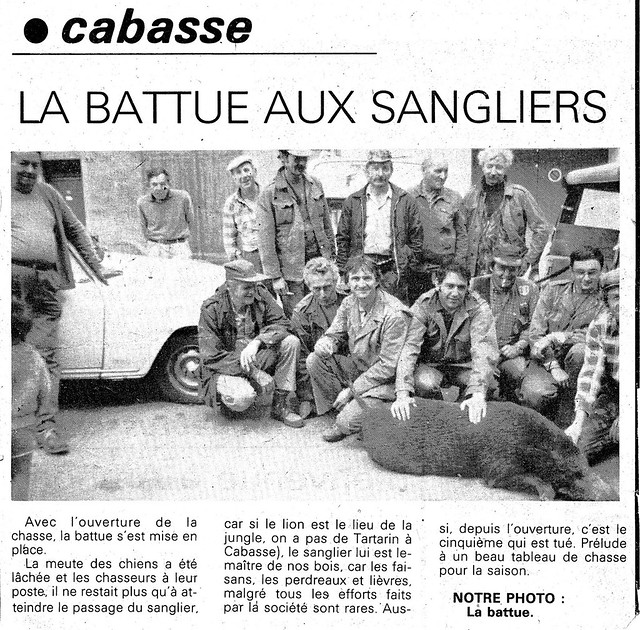 Chasse Cabasse photos anciennes