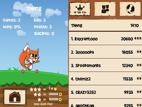 Fun Run - Multiplayer Race Score Board: screenshots, UI
