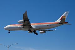 Iberia Airbus A340-300 EC-GUP (jbp274) Tags: airport airplanes airbus lax ib a340 iberia klax