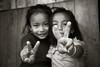 Sign of Peace (Satyaki Basu) Tags: travel people india kids canon eos indian places hills f28 himalayas sikkim t3i 1755 kanchenjunga 600d rinchenpong westsikkim kaluk