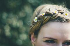 Daisies (Kaat dg) Tags: flowers summer daisies hair spring eyes nikon daisy braid d5100